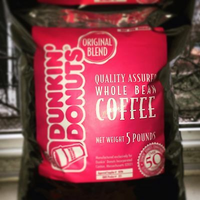 Dunkin Donuts Whole Bean Coffee (5 pound Bag)