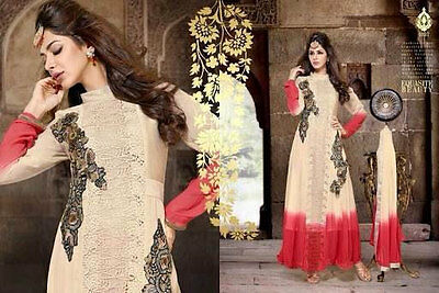 Long Designer Anarkali Suit Indian Pakistani Bridal Dress Shalwar Kameez sari