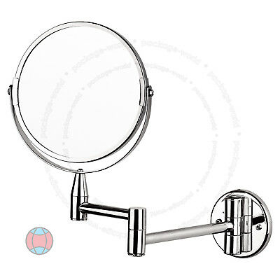 New Wall Mounted 5x Magnifying Bathroom Make Up Shaving Mirror Double Side DCUK