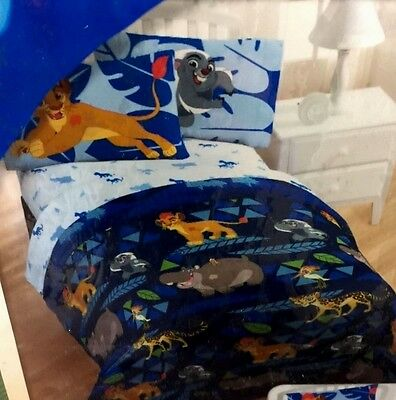 The Lion Guard 4 PC Twin BEDDING SET Reversible Comforter, Sheets & Tote NEW