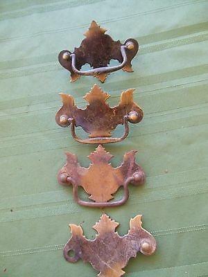 4 Vintage Metal Drawer Pulls