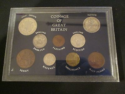 High Grade Set Of 1939 Coins In Hard Plastic Case ( 9 Coins )