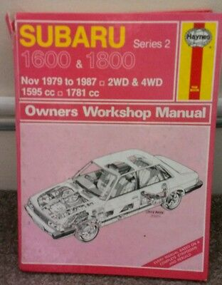 Subaru series 2 Haynes manual  for the 1600 & 1800 engine 2wd & 4wd models