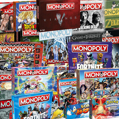 Monopoly Walking Dead One Piece WWE Nintendo Dragonball DC Edition WinningMoves