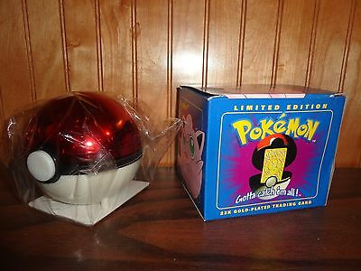 Pokemon 23K Gold Plated Trading Card Jigglypuff Sealed NEW w/COA inside Package