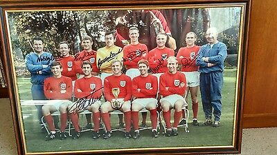 England 1966 World Cup Winners Signed Picture with Certificate of Authenticity