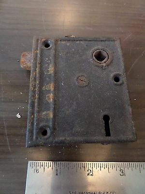 antique rim lock vintage lockset door latch hardware 2