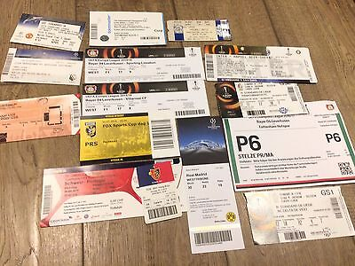 Collection Of 15 European/ International Ticket Stubs
