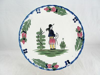 """Blue Ridge French Peasant Salad Plate, Southern Potteries, man, colonial, 8-3/8"""""""