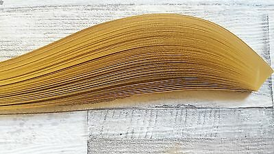 100 Quilling paper strips  5mm wide - pearlescent gold
