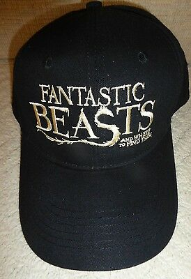 Fantastic Beasts & Where To Find Them Hat Adult Sz Authentic Studio Movie Promo!