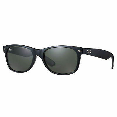 Ray-Ban RB2132 New Wayfarer Classic Polarized Sunglasses Black/ Green Classic