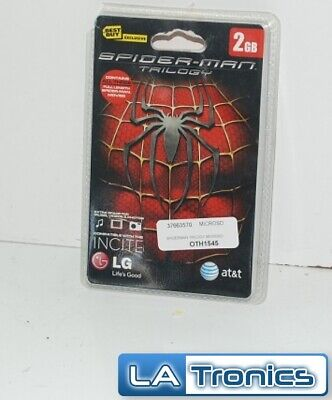 NEW LG Incite Spiderman Trilogy 2GB Micro SD Card