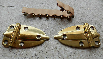 Antique Amerock Polished Brass Cabinet Hinge EO-3080-3 (1 Pair)
