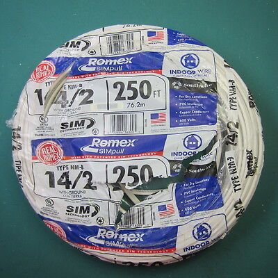 160+' 14/2 ROMEX Simpull Type NM-B W/Ground Indoor Electrical Wire
