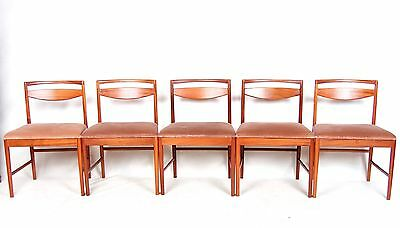 5 Retro Dining Chairs MCINTOSH Vintage Teak Dining Chairs Set 9433 1970s
