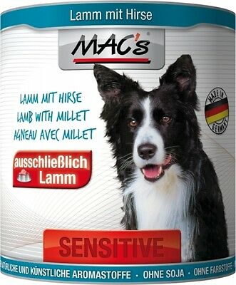 Macs Dog Sensitive Lamm & Hirse 800g Dose