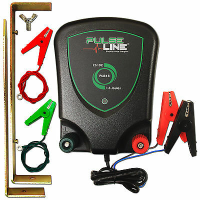 Electric Fence Energiser 12V Battery Powered Fencer PLB13 1.3J 2 Year Warranty