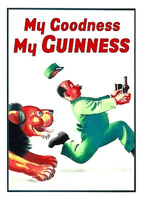 My Goodness My Guinness Poster Nostalgic  Retro Sign - Vintage Art
