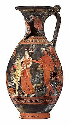 Greek Pottery Amphora Vase Replica, High Quality Reproduction, Antique finishing