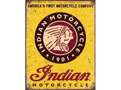 NEW Indian Motorcycles tin metal sign