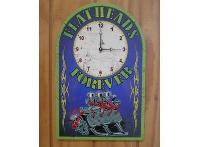 NEW Ford Flathead Clock tin metal sign