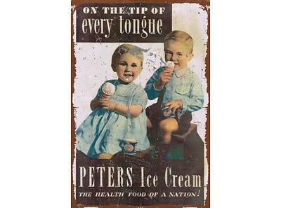 NEW Peters Ice Cream Nation tin metal sign