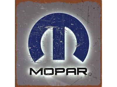 NEW Mopar Blue and Silver tin metal sign