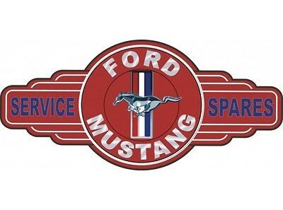 NEW Ford Mustang Service Spares tin metal sign