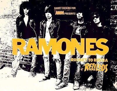 The Ramones Rocket to Russia UK POSTER 1977 Rare Punk Rock