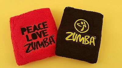 Zumba Fitness  Peace Love Wristbands - 2 Pack New W/Tag  Includes  Free Shipping