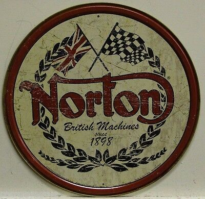 NORTON Motorcycle's metal sign british machine's vintage weathered look  1705