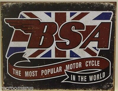 BSA Motorcycle's metal sign the most popular motor cycle in the world     2108
