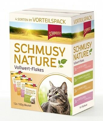 Schmusy Nature Vollwert-Flakes Multipack 12x100g