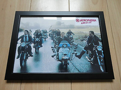 Quadrophenia Framed Movie Poster A4 Size Mounted In Black.