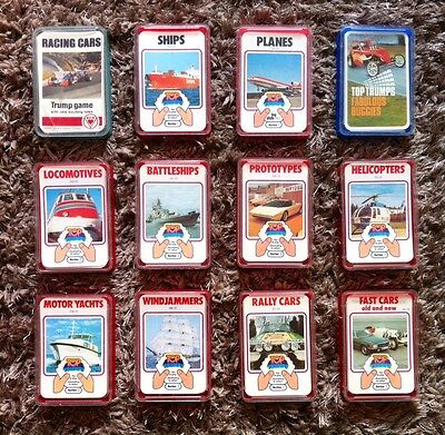 # 12 PACKS OF VINTAGE TOP TRUMPS # DUBREQ # RETRO # SERIES 1 & 2 # RARE # 70s #