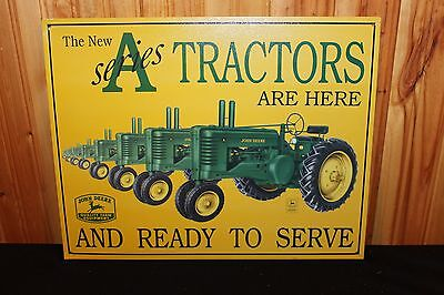 "John Deere A SERIES TRACTOR Tin Sign - 16"" X 12"" - MINT CONDITION"