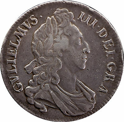 1695 William III First bust SEPTIMO silver Crown coin