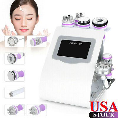 8 in 1 ! 40KHz Cavitation Vacuum Tripolar RF Body Reshape Beauty Slim Machine US