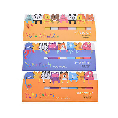 Cute Animals Sticker Bookmark Marker Memo Flags Index Tab Sticky Notes Lovely