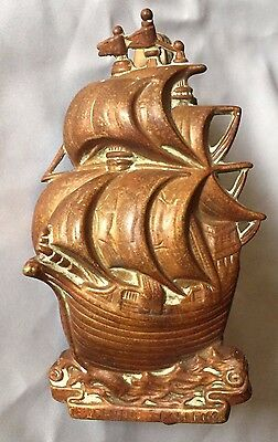 Antique Nautical Brass Ship Door Knocker Clipper Ship 16TH Century Galleon