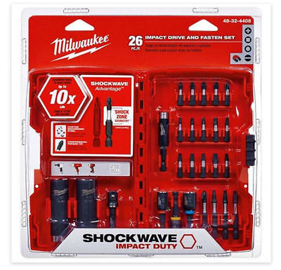 New Milwaukee  26pce Shockwave Impact Driver Bit Set FREE DELIVERY