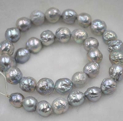 Free shipping wholesale 10-12mm gray Furrow Kasumi pearl strand 1 string