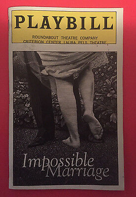 IMPOSSIBLE MARRIAGE Playbill w/ Holly Hunter, Lois Smith, Jon Tenney (1998)