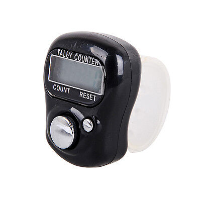 Mini 5-Digit LCD Electronic Digital Finger Hand Held Ring Tally Counter