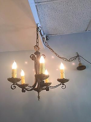 Original Vintage Spanish Revival Chandelier