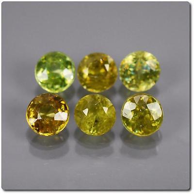 SPHENE MULTICOLORED 6 pieces 1.53 cts . SI1-I1. Madagascar