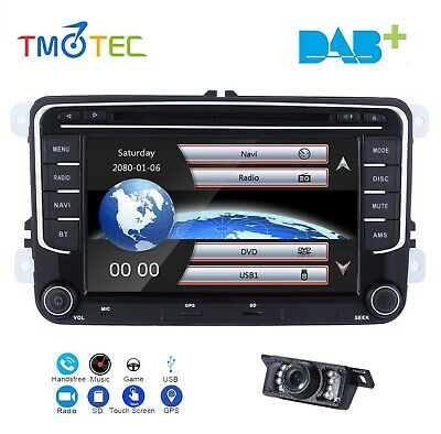 "7""Car DVD GPS Sat Nav for VW Golf MK5 6 EOS Skoda Caddy Seat Passat Mirror link"