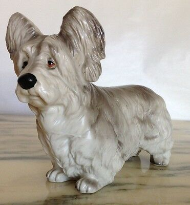 Vintage Ucagco Japan Realistic Dog - An Elusive Skye Terrier In Full Coat!