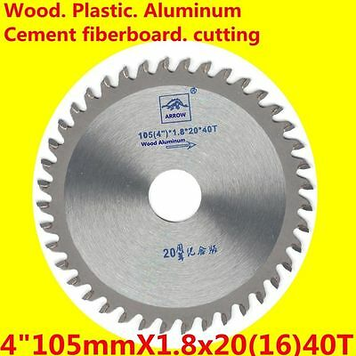 "100mm 4""X40TCT saw blade Circular aluminumin wood plastic Cement fiber board 20B"